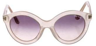 82d9470feeb0 Tom Ford Chiara Oversize Round Sunglasses