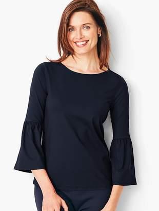Talbots Knit Jersey Juliet-Sleeve Top - Solid