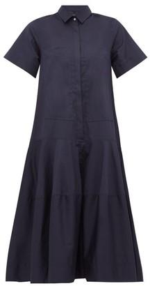 Lee Mathews - Elsie Cotton Poplin Shirtdress - Womens - Navy