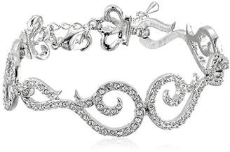 Nina Icess Romantic Swarovski Swirl Link Bracelet