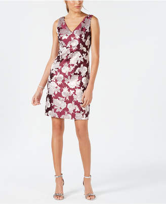 Nine West Floral Jacquard A-Line Dress