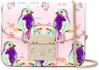 Furla watercolour bird mini metropolis bag