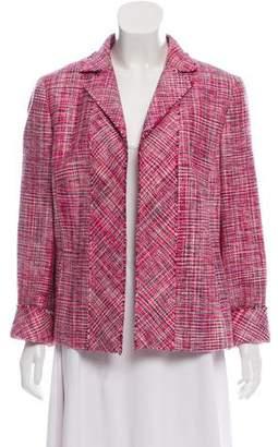 Akris Punto Silk Open Front Tweed Blazer