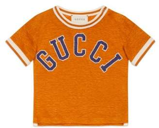 Gucci Baby embroidered linen jersey T-shirt