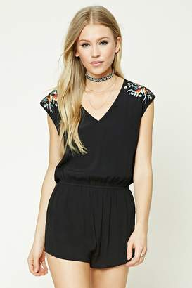 FOREVER 21+ Floral Embroidered Romper $22.90 thestylecure.com