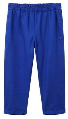 Violeta BY MANGO Straight linen-blend trousers