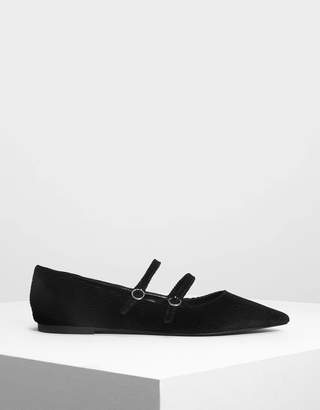 Charles & Keith Double Mary Jane Flats