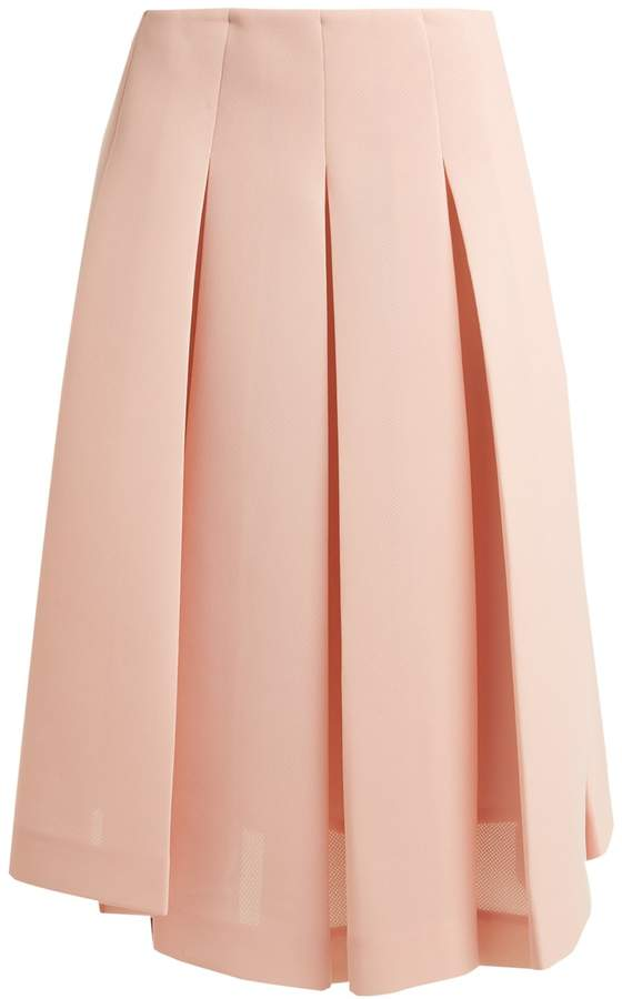 SIMONE ROCHA Pleat-front neoprene midi skirt