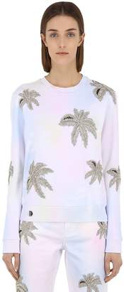 Philipp Plein Embellished Cotton Sweatshirt