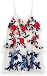 Hemant & Nandita Little Girl's& Girl's Floral Trapeze Dress