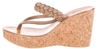 K Jacques St Tropez Thong Wedge Sandals w/ Tags