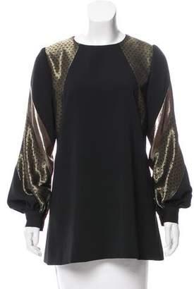 J. Mendel Silk Long Sleeve Top