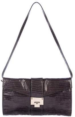 Jimmy Choo Embossed Convertible Leather Bag