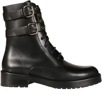RED Valentino Buckled Lace-up Boots