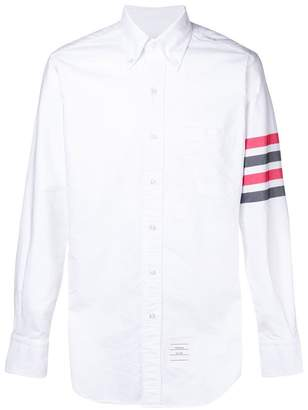 Thom Browne striped sleeved shirt
