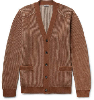 Lanvin Ribbed Merino Wool And Alpaca-Blend Cardigan