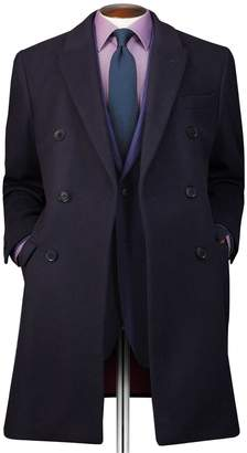 Charles Tyrwhitt Navy Wool and Cashmere Double Breasted Epsom OverWool/cashmere coat Size 42