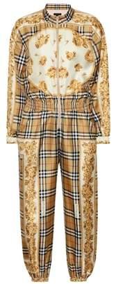 Burberry Vintage check silk jumpsuit