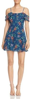 WAYF Gavan Cold-Shoulder Floral Print Dress $88 thestylecure.com