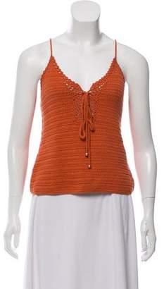 Intermix Sleeveless Knit Top