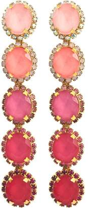 Elizabeth Cole 'Von' glass crystal ombre drop earrings