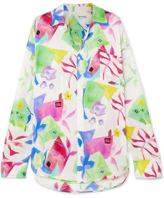 Balenciaga Printed Silk-jacquard Shirt - Pink