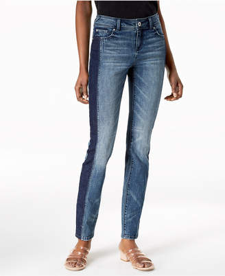 INC International Concepts I.N.C. Two-Tone Skinny Jeans, Created for Macy's