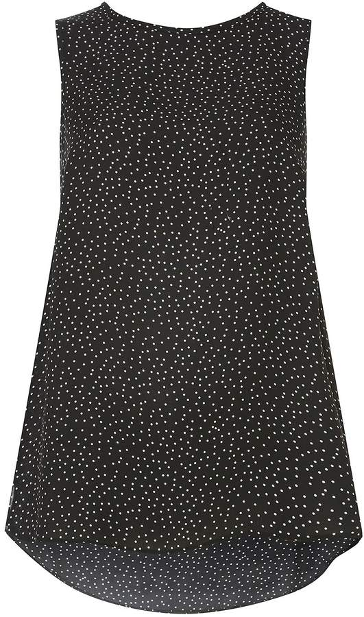 **Tall Black Spotted Built Up Top