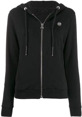 Philipp Plein logo zip-up hoodie