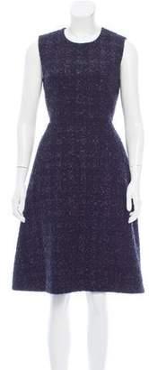 Simone Rocha Textured Metallic Dress