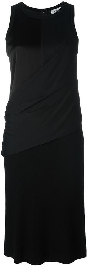 DKNYDKNY draped wrap shirt dress