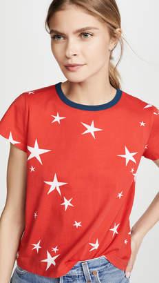 Pam & Gela Star Print Logo Crop Tee
