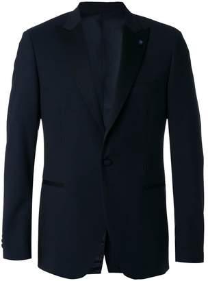 Lardini pointed lapels suit jacket