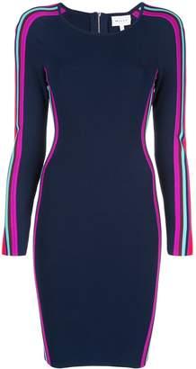 Milly striped midi dress