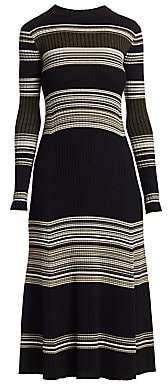Proenza Schouler Women's Merino Wool Stripe Midi Dress