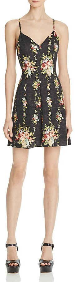 Alice + Olivia Alves Floral Print Dress