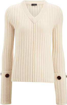 Joseph V Neck Soft Wool Knit