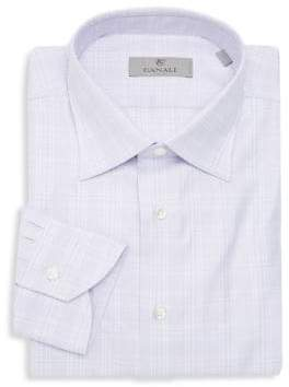 Canali Woven Plaid Dress Shirt