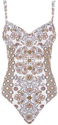 Tory Burch Geometric Printed Swimsuit