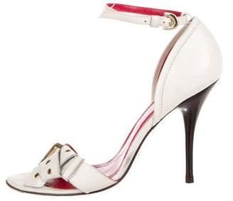Cesare Paciotti Logo Ankle Strap Sandals