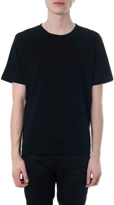 Saint Laurent T-shirt In Black Jersey Printed With Love 1974