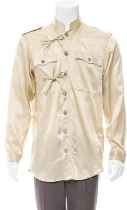 Dries Van Noten Tie-Accented Casual Shirt