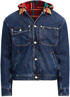 Polo Ralph Lauren Men Great Outdoors Hooded Denim Trucker Jacket