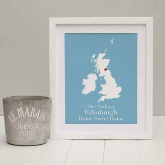 Brambler 'Home Sweet Home' Personalised Print