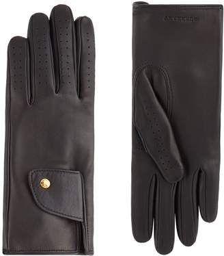 Burberry Leather Cashmere-Lined Gloves