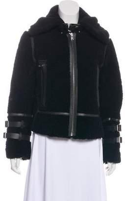 IRO Collared Shearling Jacket w/ Tags