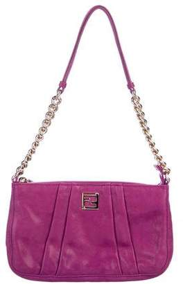 Fendi Pleated Suede Mini Bag