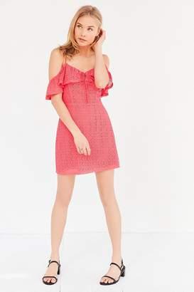Kimchi Blue Cold Shoulder A-Line Mini Dress $79 thestylecure.com