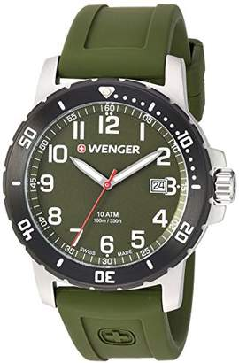 Wenger Men's 'Off Road' Swiss Quartz Stainless Steel and Silicone Casual Watch