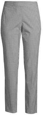 Donna Karan Women's Icons Check Skinny Trousers - Black White - Size 14